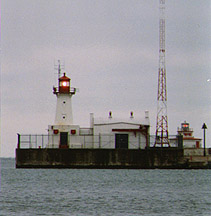 Port Colborne Inner and Outer Lights in 1991 - 11th trip