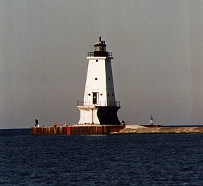 Ludington North Breakwater Light in 1996 - 26th trip