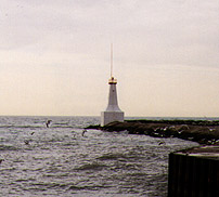 Cobourg East Pierhead Light in 1995 - 23rd trip