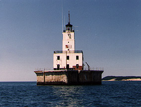North Manitou Shoal Light in 1992 - 12th trip