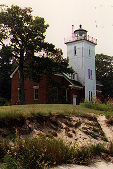 Forty Mile Point Light in 1987 - 1st trip