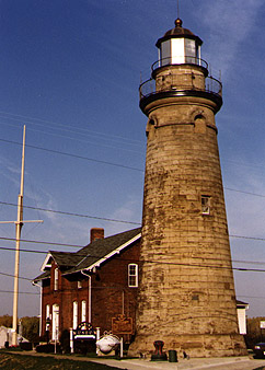Old Fairport Main Light in 1991 - 11th trip