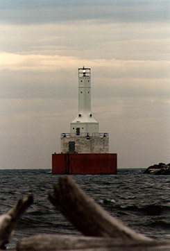 Keweenaw Waterway Upper Entrance Light in 1988 - 5th trip