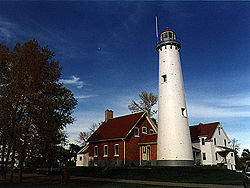 Tawas Point Light in 1997