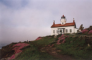 Battery Point Light in 2001 - 37th trip