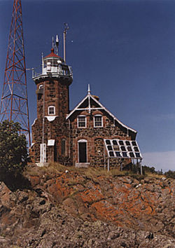 Passage Island Light in 2002 - 39th trip