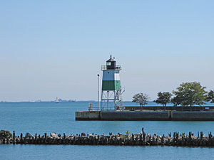 Chicago Harbor Southeast Guidewall Light in 2010 - 53rd trip