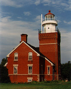 Big Bay Point Light in 1988 - 5th trip