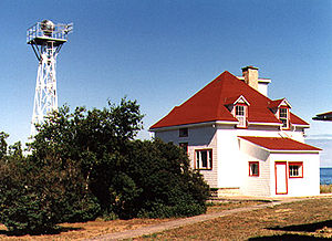 Cabot Head Light in 1990 - 9th trip