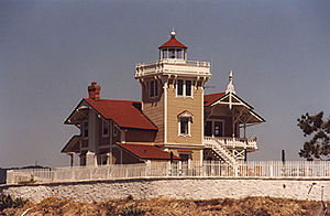 East Brother Light in 2001 - 37th trip