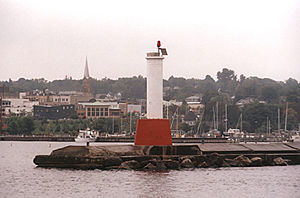 Petoskey Pierhead Light in 2001 - 38th trip