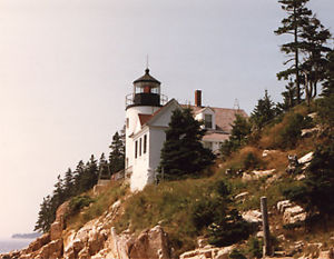 Bass Harbor Head Light in 1986 - Maiden Journey