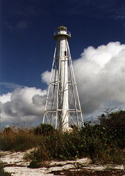 Boca Grande Rear Range Light in 1996 - 27th trip