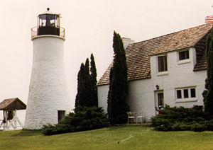 Old Presque Isle Light in 1987 - 1st trip