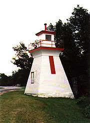 Saugeen River Rear Range Light in 1990 - 9th trip