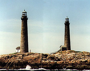 Cape Ann Twin Lights in 1997 - 28th trip