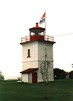 Goderich Main Light in 1990 - 9th trip