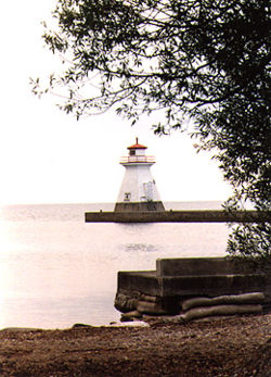 Saugeen River Front Range Light in 1990 - 9th trip