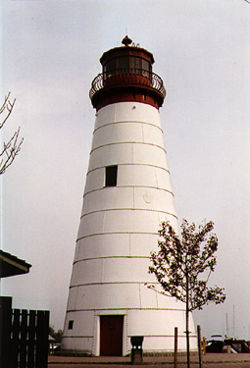 Old Pelee Passage Light in 1995 - 23rd trip