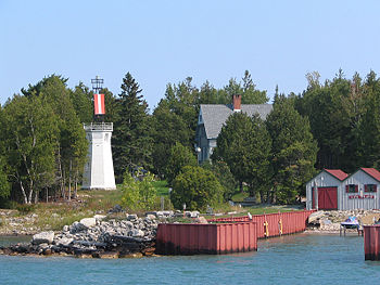 Pipe Island Light in 2007 - 48th trip