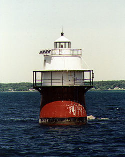Duxbury Pier Light in 1997 - 28th trip