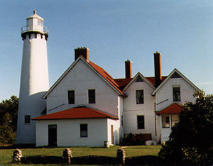 Point Iroquois Light in 1987 - 2nd trip